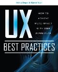 UX Best Practices How to Achieve More Impact with User Experience Cover