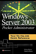 *windows Server 2003 Pocket Administration (03 Edition) Cover