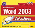 Microsoft Office Word 2003 Quicksteps (Quicksteps) Cover