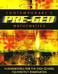 Contemporary Pre-GED Mathematics (Contemporary's Pre-GED Series) Cover