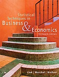 Statistical Techniques in Business & Economics with CDROM