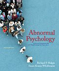 Abnormal Psychology Clinical Perspectives on Psychological Disorders 6th edition