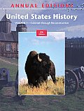 Annual Editions: United States History, Volume 1 (Annual Editions: American History Vol. 1)