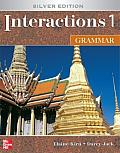 Interactions/Mosaic: Silver Edition - Interactions 1 (High Beginning to Low Intermediate) - Grammar Student Book (Interactions) Cover