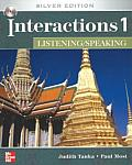 Interactions 1 Listening/Speaking Student Book + E-Course Code: Silver Edition (Interactions) Cover