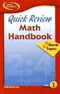 Quick Review Math Handbook Book 1: Hot Words, Hot Topics (Glencoe Mathematics)