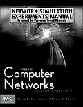 Network Simulation Experiments Manual (Morgan Kaufmann Series in Networking) Cover