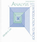 Analysis With An Introduction To Proof 3rd Edition