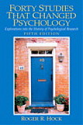 Forty Studies That Changed Psychology 5th Edition
