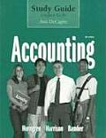 Accounting, Sixth Edition Study Guide Chapters 12-26