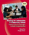 Reading for Information in Elementary School : Content Literacy Strategies To Build Comprehension (07 Edition)
