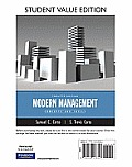 Modern Management: Concepts and Skills, Student Value Edition