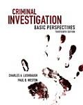 Criminal Investigation: Basic Perspectives
