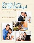 Family Law for Paralegal (2ND 13 Edition)
