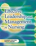 Effective Leadership and Management in Nursing Cover