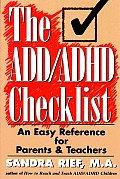 Add Adhd Checklist 1st Edition