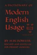 Dictionary of Modern English Usage 2nd Edition