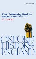 Oxford Paperbacks #3: From Domesday Book to Magna Carta 1087-1216 Cover