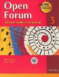 Open Forum 3 Academic Listening & Speaking With Student Audio CD