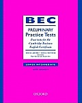 Bec Practice Test Preliminary Book and Key