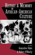 History and Memory in African-American Culture Cover