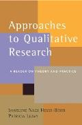 Approaches To Qualitative Research : a Reader on Theory and Practice (04 Edition) Cover