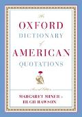 Oxford Dictionary of American Quotations 2ND Edition