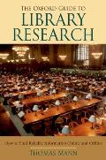 Oxford Guide To Library Research 3RD Edition