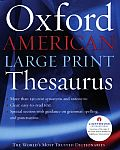 Oxford American Large Print Thesaurus (Large Print)