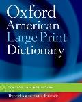 Oxford American Large Print Dictionary (Large Print) Cover