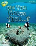 Oxford Reading Tree: Level 9: Treetops Non-Fiction: Did You Know That?