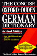 Concise Oxford-Duden German Dictionary: English-German, German-English