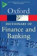 A Dictionary of Finance and Banking (Oxford Paperback Reference) Cover