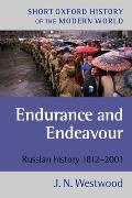 Endurance and Endeavour: Russian History, 1812-2001
