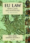 Eu Law Text Cases & Materials 3rd Edition