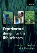 Experimental Design for the Life Sciences (Life Sciences)