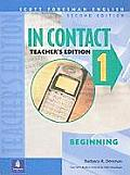 In Contact Book 1: Beginning (Scottforesman English)