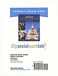 Mysocialworklab Student Access Code for American Social Welfare Policy: A Pluralist Approach (Standalone)