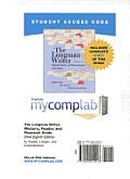Mycomplab New with Pearson Etext Student Access Code Card for the Longman Writer, Brief Edition: Rhetoric, Reader, and Research Guide (Standalone Cover