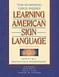 Learning American Sign Language: Levels I & II--Beginning & Intermediate Cover