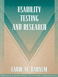 Usability Testing and Research (Part of the Allyn & Bacon Series in Technical Communication) (Allyn & Bacon Series in Technical Communication)