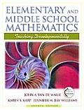 Elementary and Middle School Mathematics : Teaching Developmentally (7TH 10 - Old Edition) Cover
