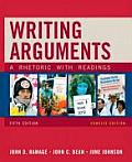 Writing Arguments Concise Edition A Rhetoric with Readings