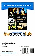 Myspeechlab Student Access Code Card for Public Speaking (Standalone)