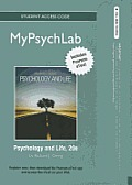 Mypsychlab with Pearson Etext -- Standalone Access Card -- For Psychology and Life (Standalone) Cover