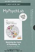 New Mypsychlab With Pearson Etext Standalone Access Card For Mastering The World Of Psychology