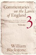 Commentaries on the Laws of England, Volume 3: A Facsimile of the First Edition of 1765-1769