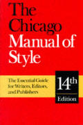 Chicago Manual Of Style 14th Edition