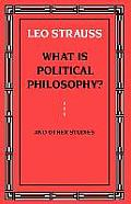 What Is Political Philosophy & Other Studies