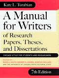 Manual for Writers of Research Papers Theses & Dissertations Chicago Style for Students & Researchers